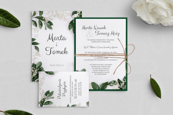 Zaproszenia ślubne Soft - Motyw 1