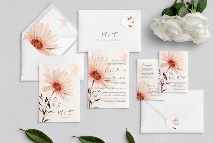Zaproszenia ślubne Natalie - Motyw 1