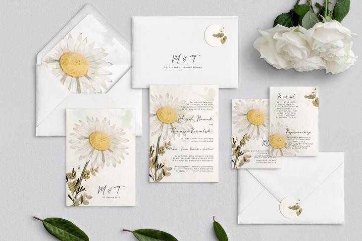 Zaproszenia ślubne Natalie - Motyw 3
