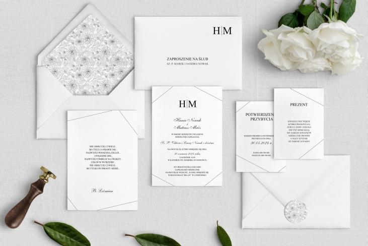 Zaproszenia ślubne Elegance - Motyw 1