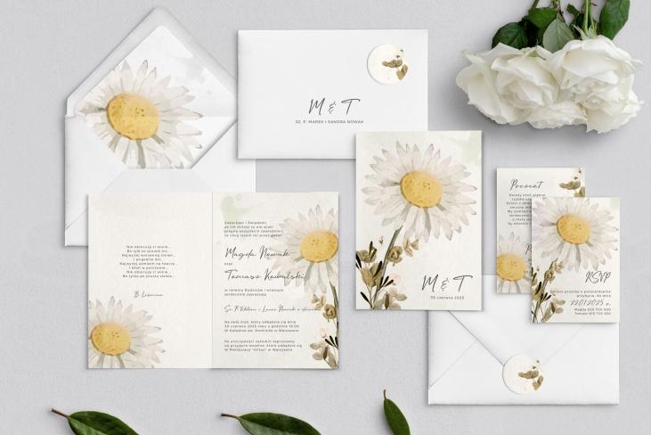 Zaproszenia ślubne Natalie - Składane Motyw 3