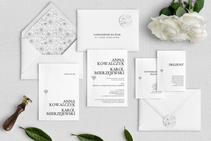 Zaproszenia ślubne Elegance - Motyw 2