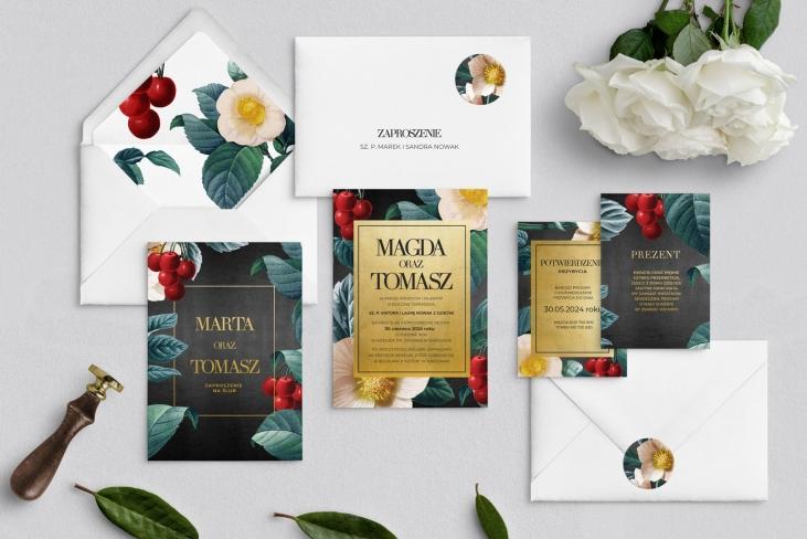 Zaproszenia ślubne Amore - Motyw 1