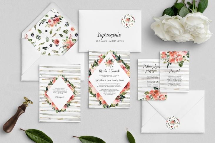 Zaproszenia ślubne Akwarelka - Motyw 2