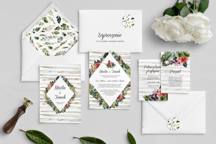 Zaproszenia ślubne Akwarelka - Motyw 3