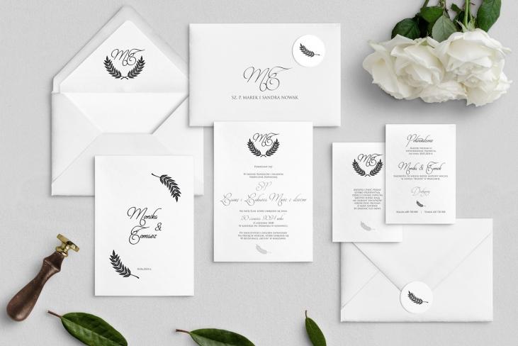 Zaproszenia ślubne Alloro - motyw 2