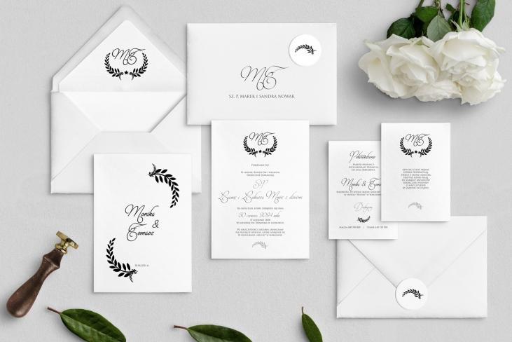 Zaproszenia ślubne Alloro - motyw 3