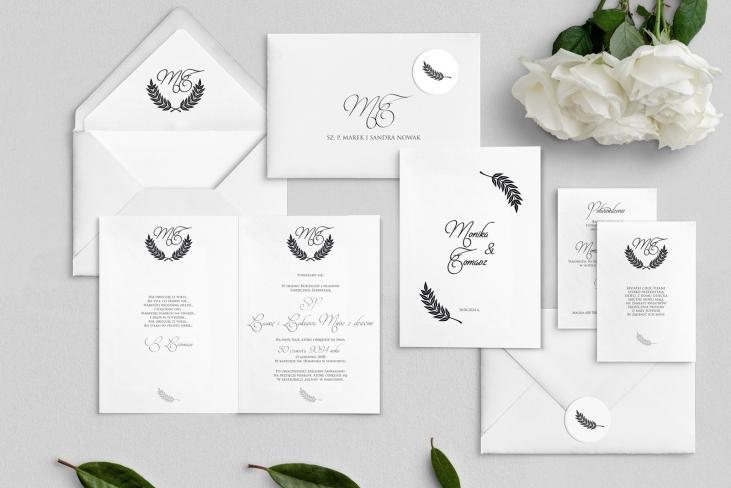 Zaproszenia ślubne Alloro - Składane Motyw 2