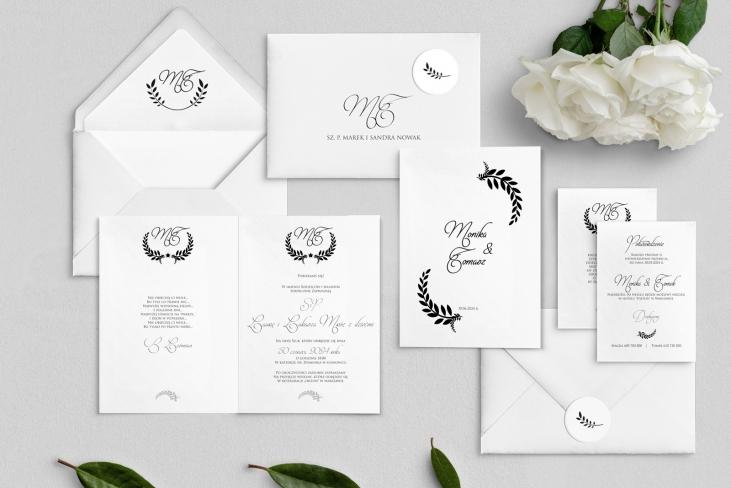 Zaproszenia ślubne Alloro - Składane Motyw 3