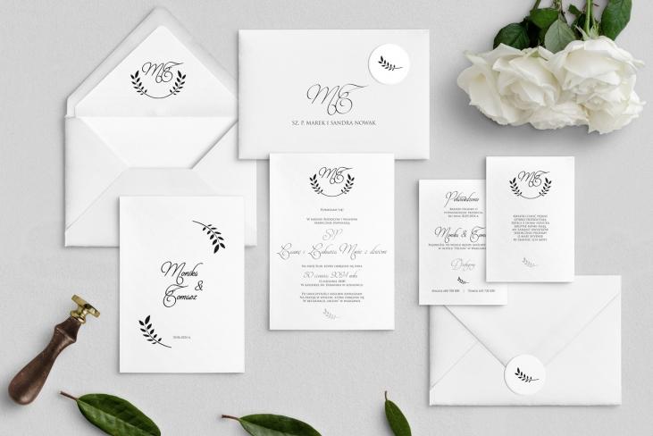 Zaproszenia ślubne Alloro - motyw 1