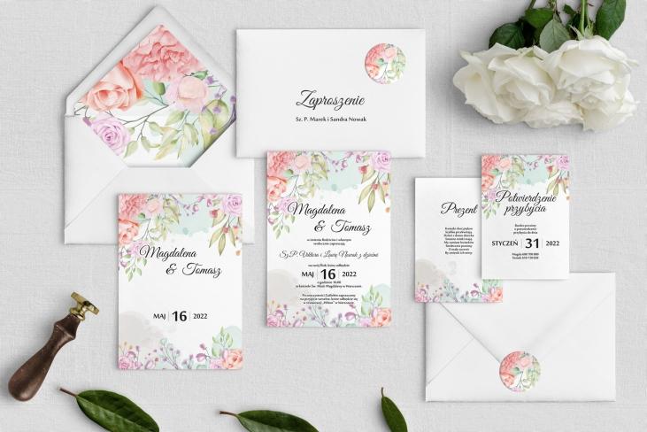 Zaproszenia ślubne Amelia- Motyw 2