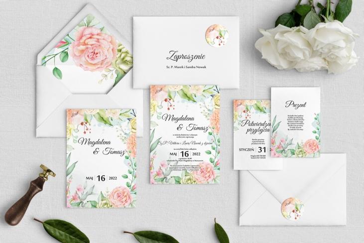 Zaproszenia ślubne Amelia- Motyw 3