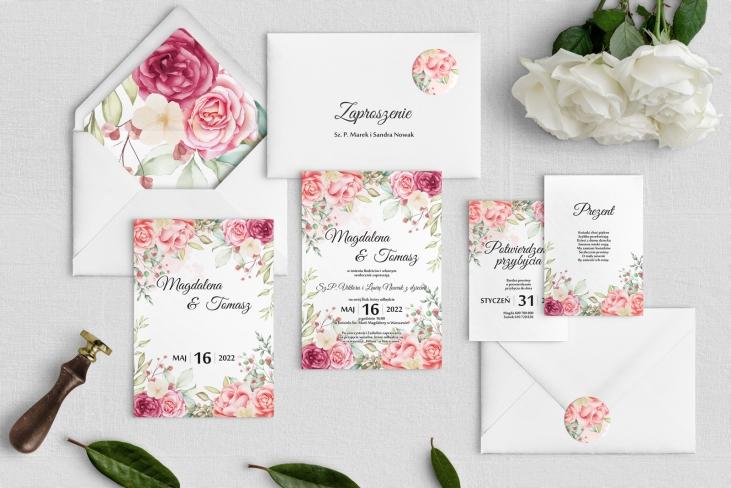 Zaproszenia ślubne Amelia- Motyw 5