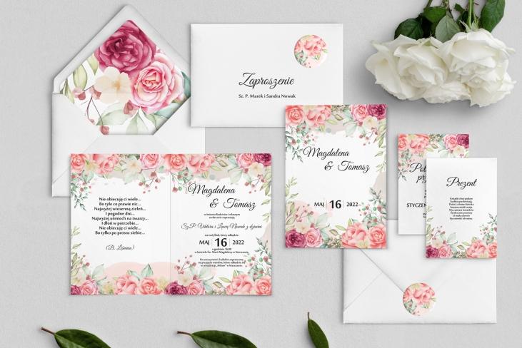 Zaproszenia ślubne Amelia - Składane Motyw 5