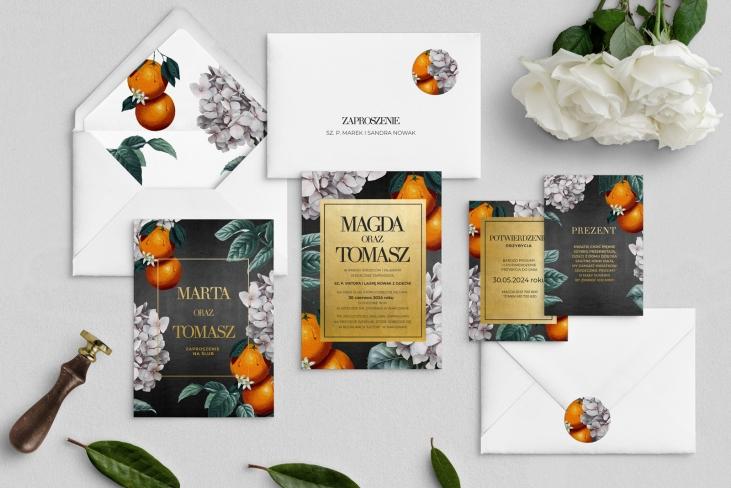 Zaproszenia ślubne Amore - Motyw 2