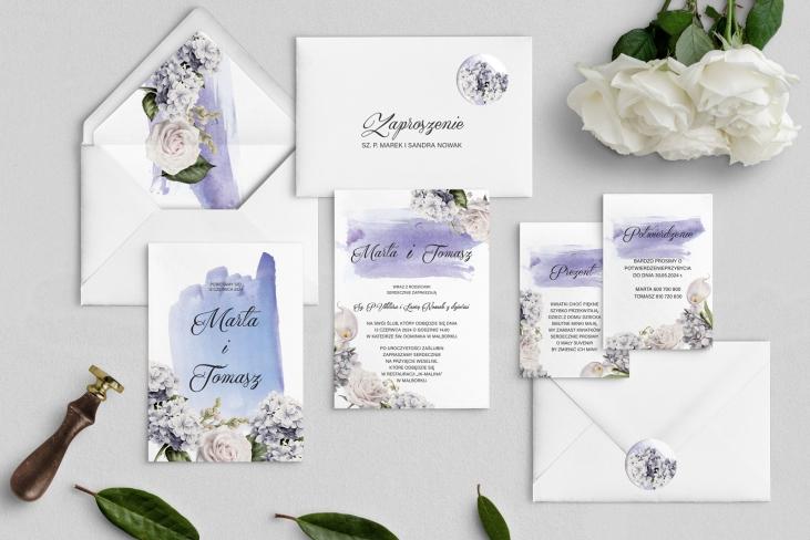 Zaproszenia ślubne Charlotte - Motyw 2