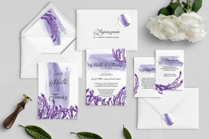 Zaproszenia ślubne Charlotte - Motyw 4