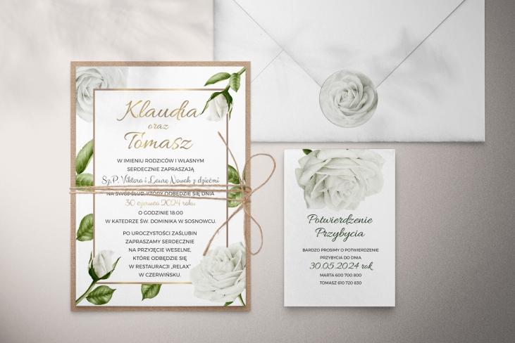 Zaproszenia ślubne Dream - Motyw 1