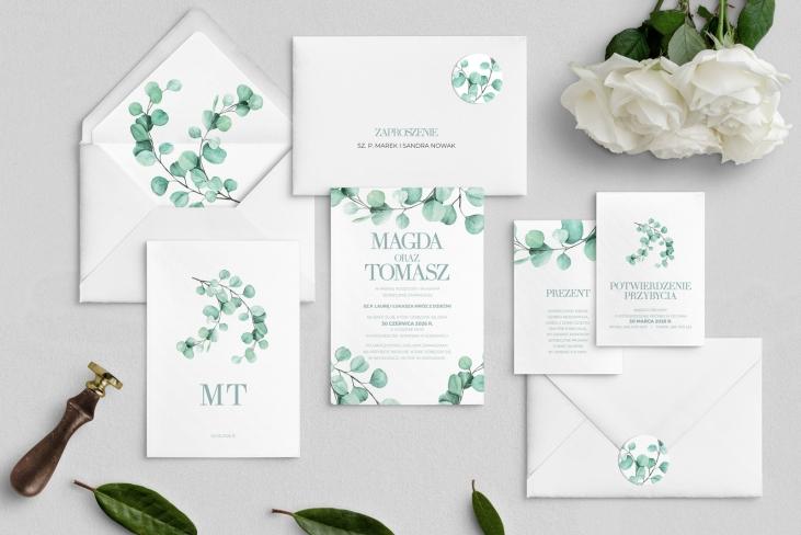 Zaproszenia ślubne Eukaliptus - Motyw 2