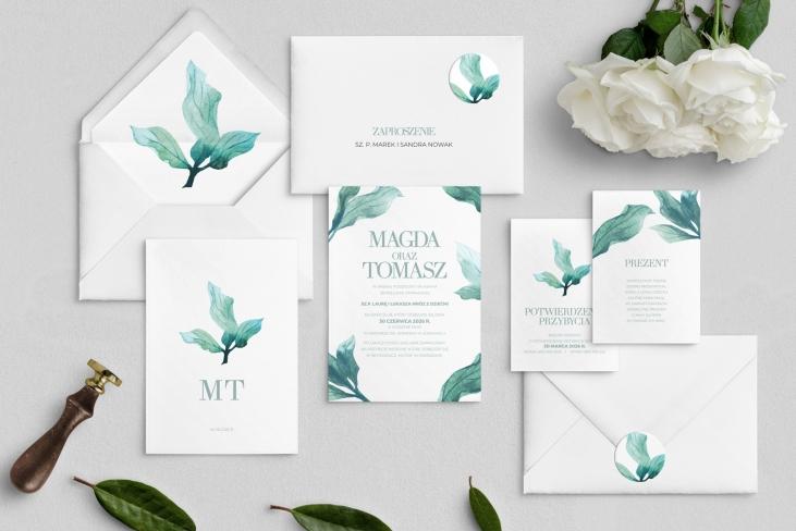 Zaproszenia ślubne Eukaliptus - Motyw 3