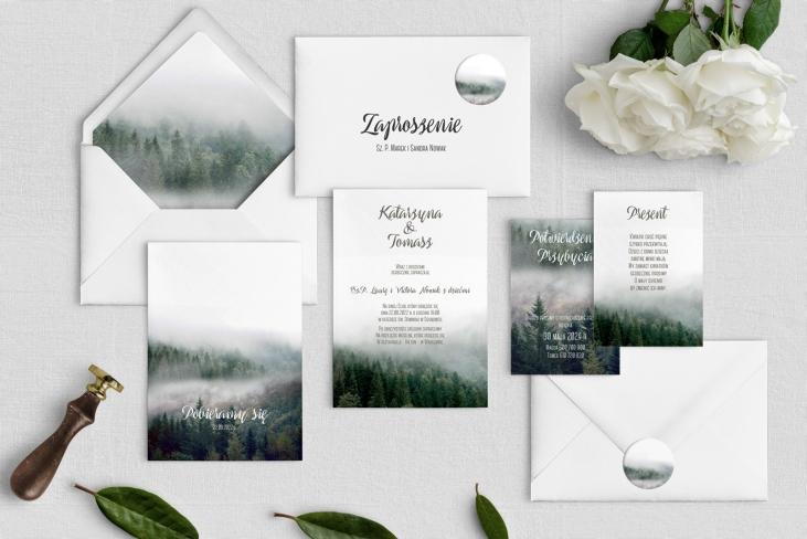 Zaproszenia ślubne Forest - Motyw 2
