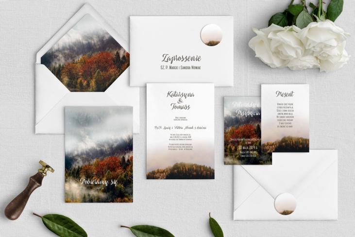 Zaproszenia ślubne Forest - Motyw 3