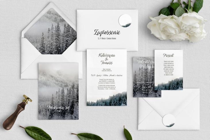 Zaproszenia ślubne Forest - Motyw 4