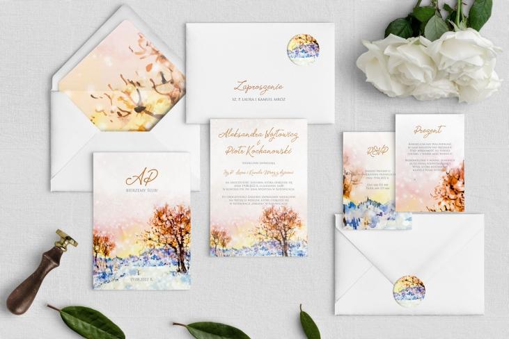 Zaproszenia ślubne Gaja - Motyw 5