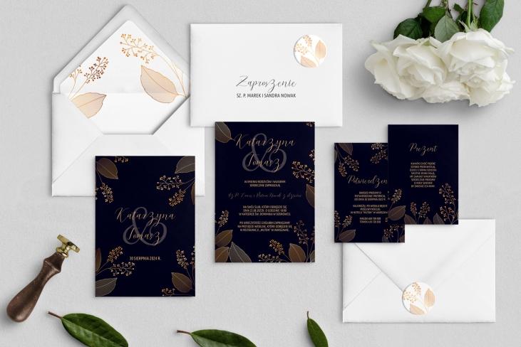 Zaproszenia ślubne Goldish- Motyw1