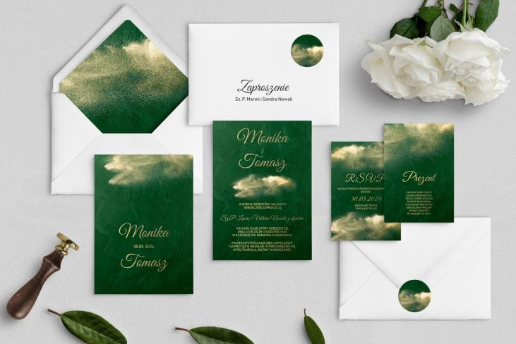 Zaproszenia ślubne Greenery- Motyw1
