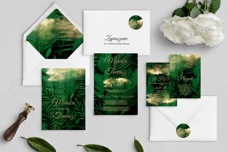 Zaproszenia ślubne Greenery- Motyw2