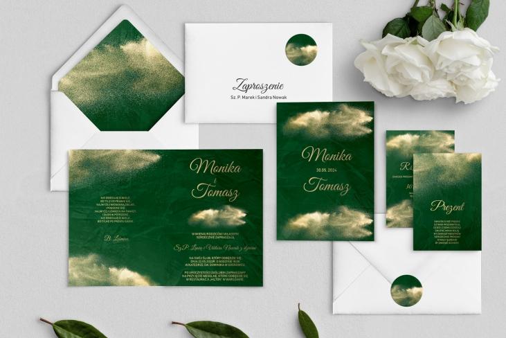 Zaproszenia ślubne Greenery - Składane Motyw1