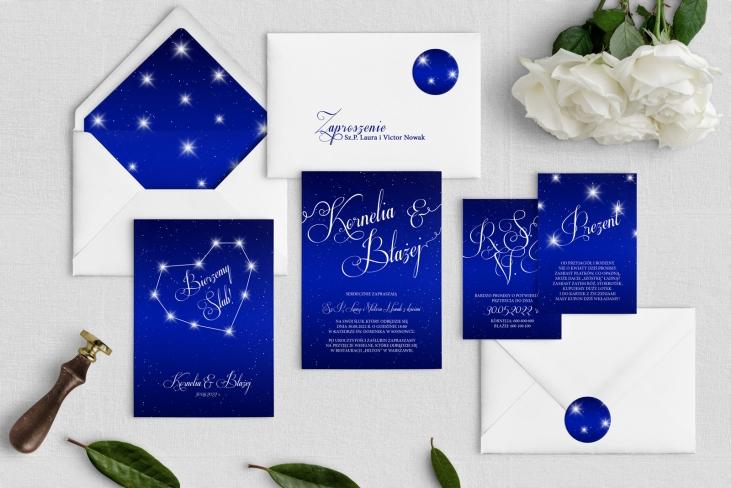 Zaproszenia ślubne Gwiaździsta Noc - Motyw 1