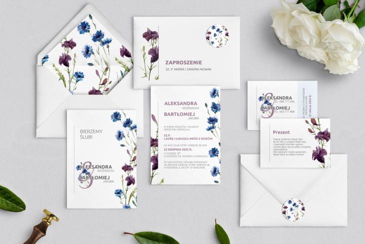 Zaproszenia ślubne Lea - Motyw 1