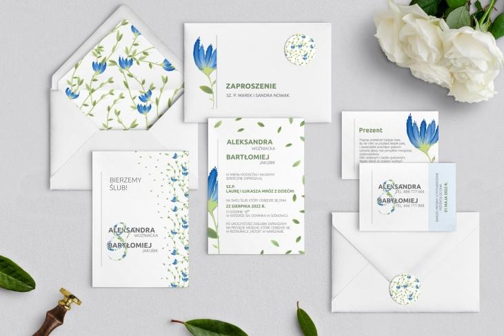 Zaproszenia ślubne Lea - Motyw 2