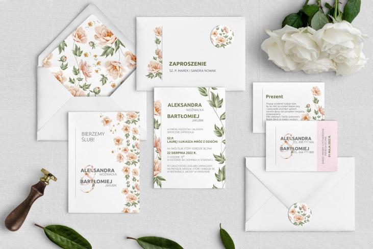 Zaproszenia ślubne Lea - Motyw 3