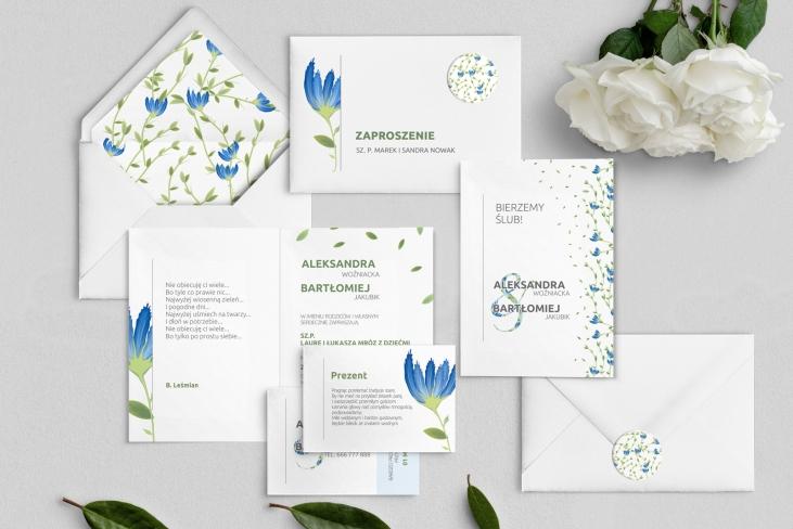 Zaproszenia ślubne Lea - Składane Motyw 2