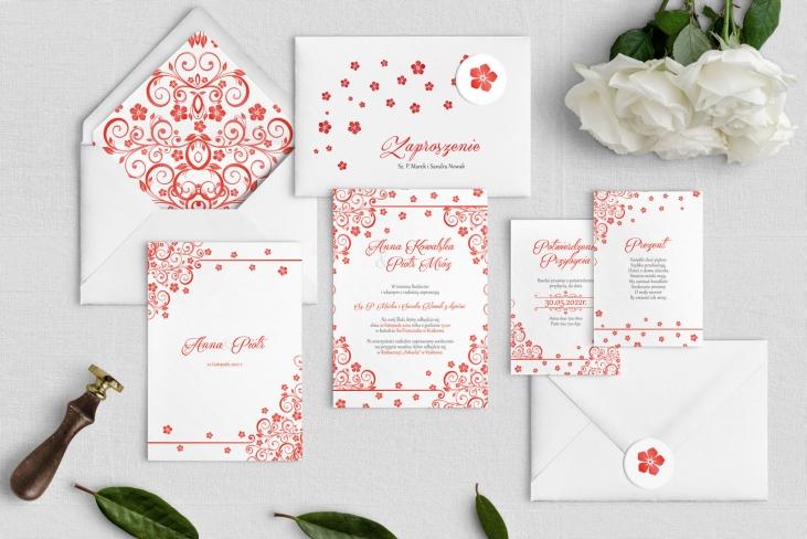 Zaproszenia ślubne Maja- Motyw Czerwone