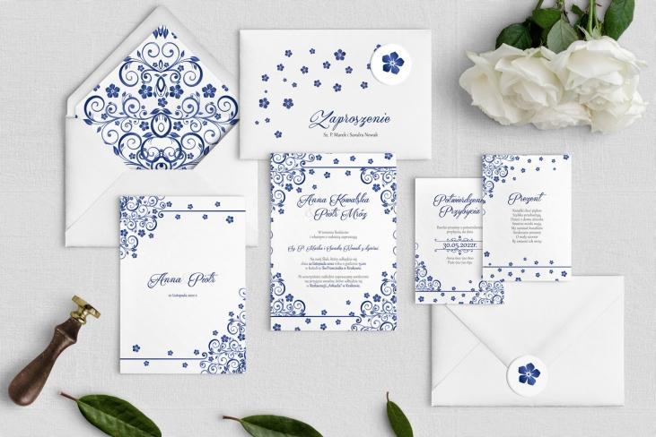 Zaproszenia ślubne Maja- Motyw Granatowy