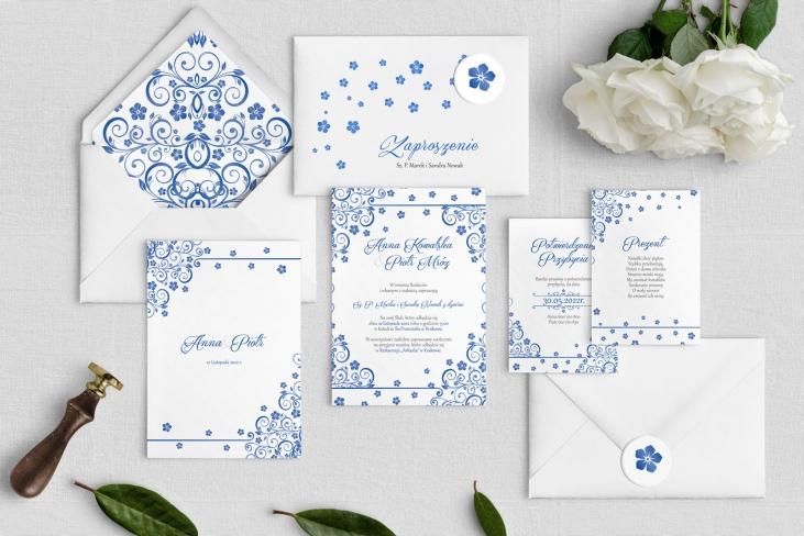 Zaproszenia ślubne Maja- Motyw Niebieski