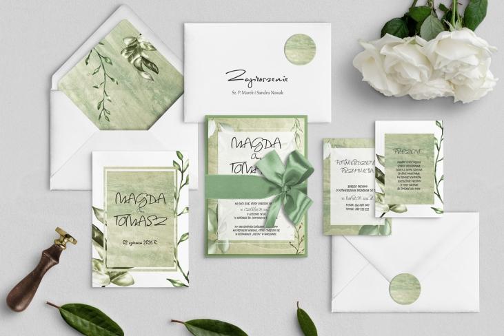 Zaproszenia ślubne Mgiełka - Motyw 1