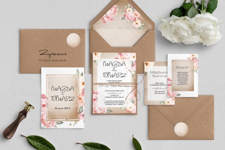 Zaproszenia ślubne Mgiełka - Motyw 2