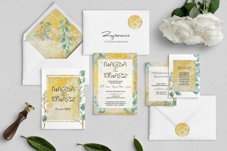 Zaproszenia ślubne Mgiełka - Motyw 3