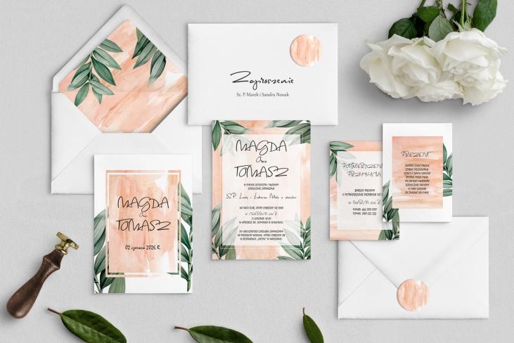 Zaproszenia ślubne Mgiełka - Motyw 4