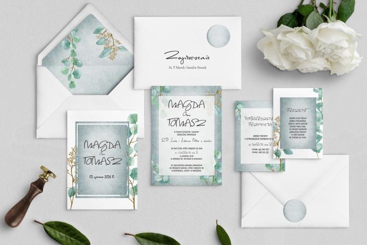 Zaproszenia ślubne Mgiełka - Motyw 5