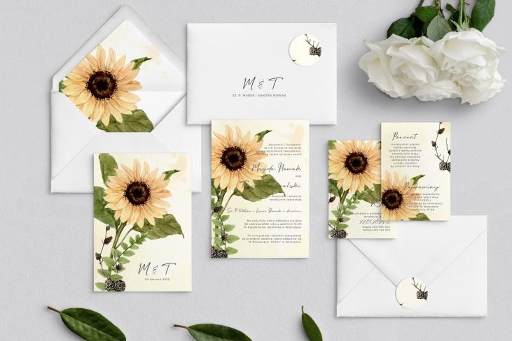 Zaproszenia ślubne Natalie - Motyw 2