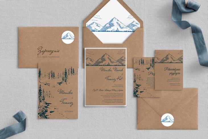Zaproszenia ślubne Natura Kraft - Motyw 1