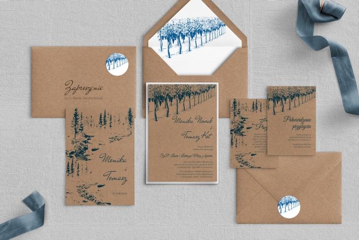 Zaproszenia ślubne Natura Kraft - Motyw 2