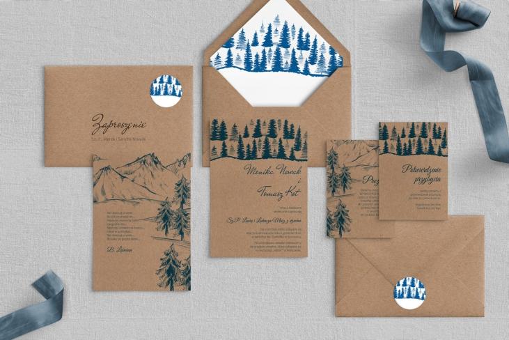 Zaproszenia ślubne Natura Kraft - Motyw 3