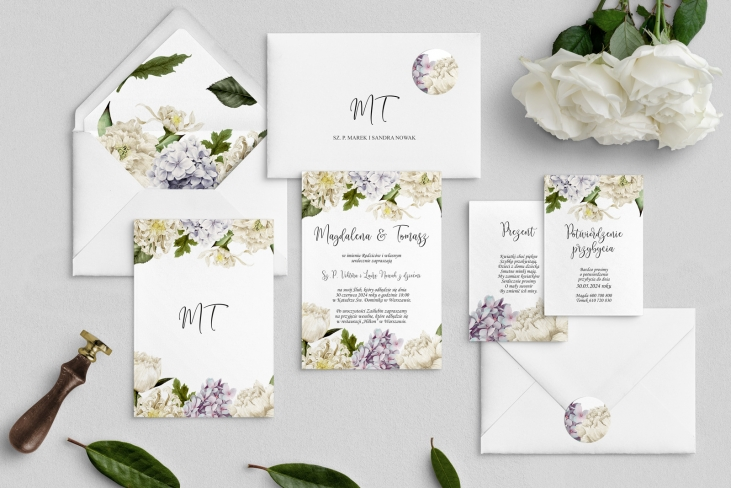 Zaproszenia ślubne Ofelia - Motyw 2